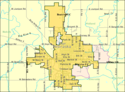Detailed map of Beatrice, Nebraska