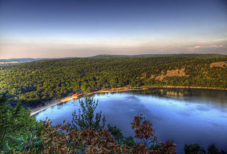 Devil's Lake (Wisconsin) - View of the Northern shore of Devil's Lake