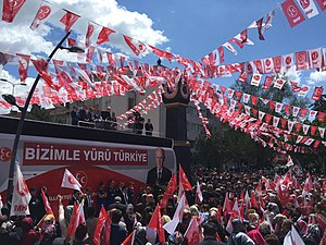 Nationalist Movement Party - The MHP holding its electoral rally in Ankara, May 2015
