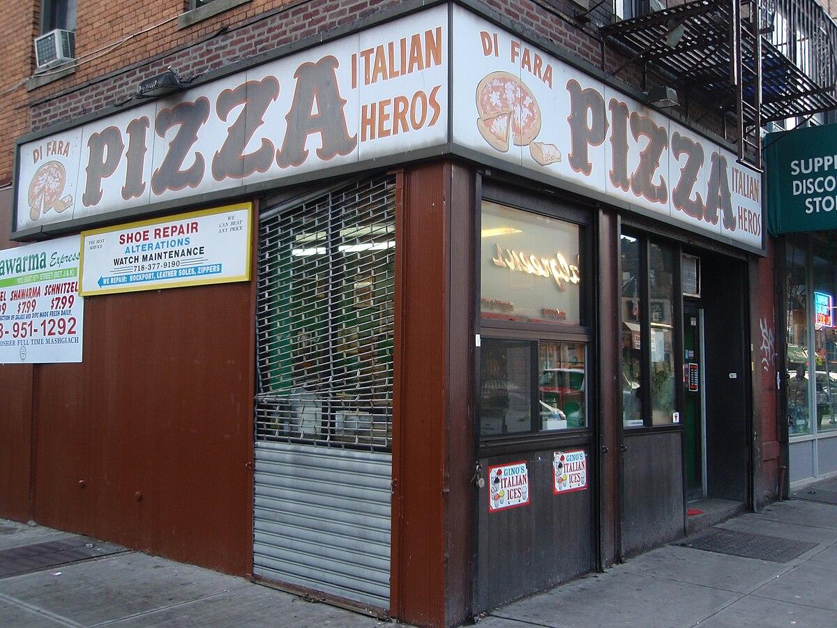 Di fara pizza wikipedia for Pizza pizzeria