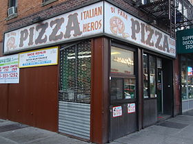 The facade of Di Fara Pizza