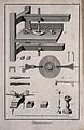 Diamond cutters; elevations of cutting machines with various Wellcome V0023690ER.jpg