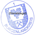 Dienstsiegel Burgenlandkreis 1 Kreiswappen 20130606.png