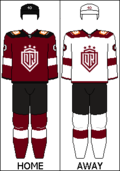 Uniforms used since the 2020-2021 KHL season.