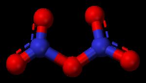 Dinitrogen pentoxide - Image: Dinitrogen pentoxide 3D balls