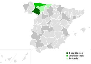 Roman Catholic Diocese of Astorga - Image: Diocesisdeastorga