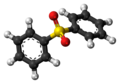 Diphenyl sulfone molecule ball.png