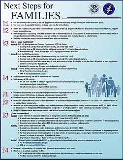 Image result for form given to immigrants to relocate their children