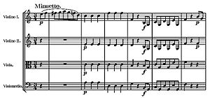 String Quartet No. 19 (Mozart) - Start of third movement