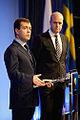 Dmitry Medvedev in Sweden 18 November 2009-6.jpg