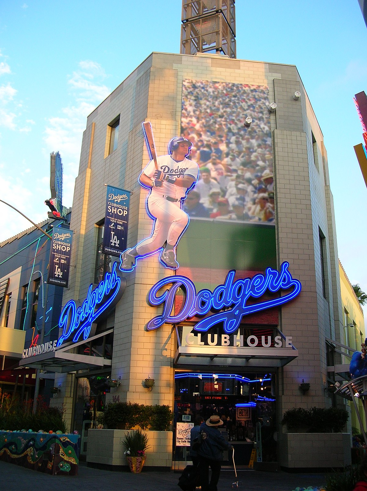 File:Dodgers Clubhouse, Universal CityWalk Hollywood JPG