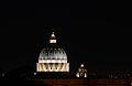 Dome of Saint Peter's Basilica (exterior) at night2.jpg