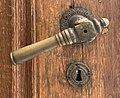 Door handle and escutcheon of the entrance door of the D.A. Sturdza House (Bucharest).jpg