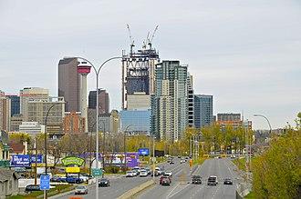Macleod Trail - Macleod Trail going into downtown Calgary (2010)