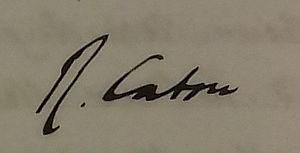 Richard Caton - Image: Dr Richard Caton Signature