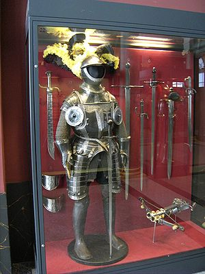 Reiter - A typical black and white armour worn by Schwarze Reiter in the 16th century