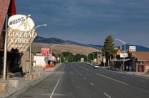 Dubois, Wyoming - Along the main street in Dubois