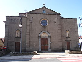 The church of Saint-Jean-Apôtre, in Duerne