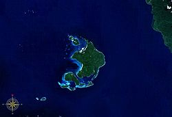 Duke of York Islands seen from space