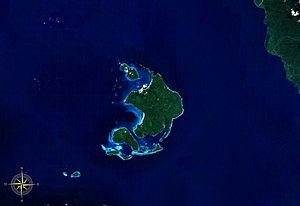 Duke of York Island, Papua New Guinea - Duke of York Islands seen from space