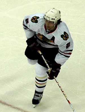 English: Duncan Keith plays with Blackhawks in...