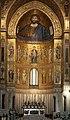 Duomo di Monreale, interno. Mosaico sulla parte interna dell'abside. - panoramio.jpg