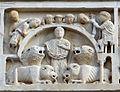 Duomo di massa marittima, esterno, episodi dlela vita di san cerbone, XIII secolo 03 leoni.jpg
