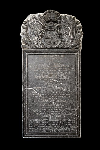 Abraham Duquesne - Plaque and heart of Admiral Duquesne