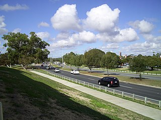 Whitfords Avenue road in Perth, Western Australia