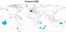 Zona Economica Esclusiva della Francia.