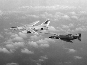 VAQ-129 - VAH-10 EKA-3B refuels an 892 NAS Phantom FG.1 c.1969