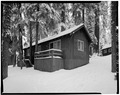 EXTERIOR, NORTHWEST VIEW - Giant Forest Lodge Historic District, Cabin No. 27-28, Three Rivers, Tulare County, CA HABS CAL,54-THRIV.V,1-L-3.tif