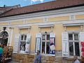 Early eclectic house. Listed ID 7332. Cca 1860. Semi-circular door and four identical windows. Natural stone skirting. - Szentendre, Bogdányi Rd 4.JPG