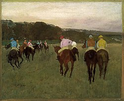 Едґар Деґа: Racehorses at Longchamp