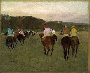 Chevaux de course à Longchamp