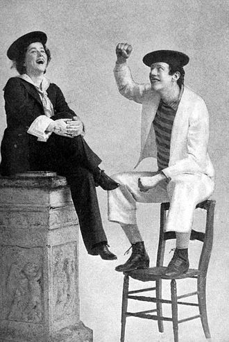 DeWolf Hopper - Edna Wallace and DeWolf Hopper in the musical Panjandrum (1893)