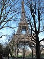 Eiffel Tower from SW in winter.jpg