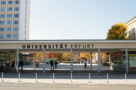 Entrance University of Erfurt