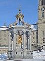 Einsiedeln - Kloster und Marienbrunnen - Marienplatz 2013-01-26 15-05-01 (P7700).JPG