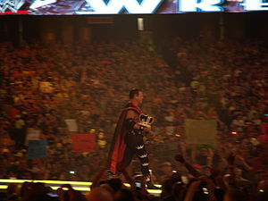 Jerry Lawler - Lawler making his way to the ring at WrestleMania XXVII