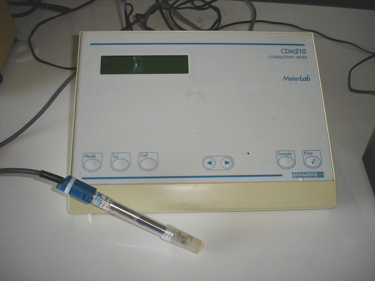 Water Conductivity Measurement : Electrical conductivity meter wikipedia