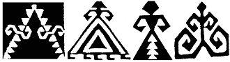 Motif (visual arts) - Elibelinde kilim motifs, symbolising fertility