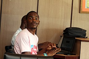 Emeka, Participant at the Wikimedia Hub Abuja, April Meetup.jpg