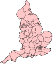 Counties and unitary authorities of England