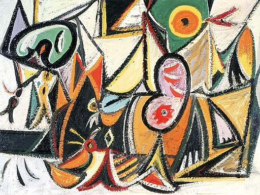 """Enigmatic Combat"" by Arshile Gorky"