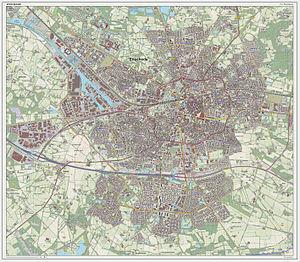 Enschede - Dutch Topographic map of Enschede (city), June 2014