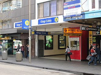 Kings Cross railway station, Sydney - Station front in August 2011