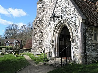 Purbrook - Image: Entrance to St John's Purbrook geograph.org.uk 732531