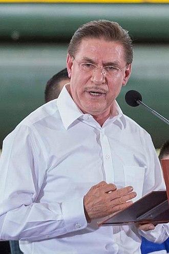 Governor of Durango - Image: Entrega del Libramiento Ferroviario de Durango 1 (cropped)