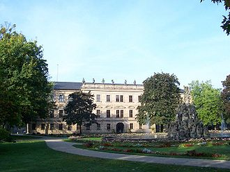 University of Erlangen–Nuremberg - The castle in the center of Erlangen, known to many simply as the Schloss, is home to a large part of the university's administration